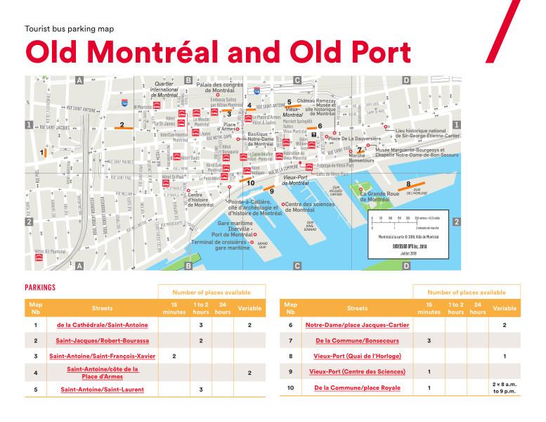Tour Bus Parking Maps Tourisme Montreal Toolkit