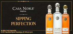 Casa Noble Sipping Perfection Large Digital Banner - No CTA – 320x150 - For Online Use Only - Not for print or paid media