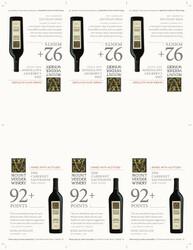 2018 Mount Veeder Winery Cabernet Sauvignon Shelf Talker Wine Advocate 92 Points