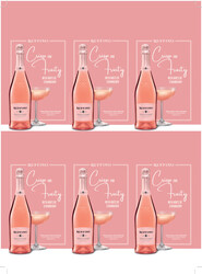 Ruffino Prosecco Rose Holiday FY22 6 Up Shelf Talker