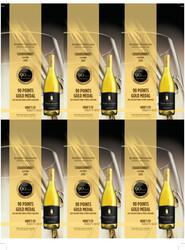 Robert Mondavi Private Selection 2019 Chardonnay Holiday FY22 2021 San Diego Wine & Spirits Challenge 90 Points Gold Medal 6 Up Shelf Talker