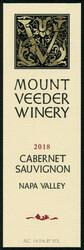 Mount Veeder Winery 2018 Cabernet Sauvignon 750ml Front Label
