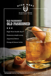 High West Cocktail Cards Table Tent - Editable