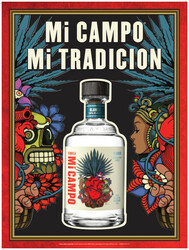 Mi CAMPO Day Of The Dead Blanco Summer FY22 Small Poster