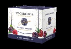 Woodbridge Sparkling Infusions Black Raspberry 750ml Bottle 12pk Left Facing Shipper Image