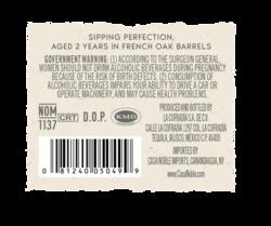 Casa Noble Anejo 750ml Back Label - MOCKUP