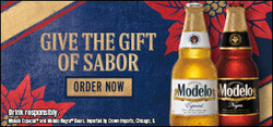 2021 Modelo Holiday - eComm - Large Banner - Shop Now CTA - 320 x 150 - Online use only – not for print