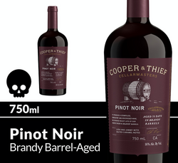 Cooper and Thief Brandy Barrel Aged Pinot Noir 750ml Bottle Halloween Icon COPHI - Temporary Image