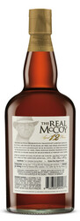 The Real McCoy Prohibition Tradition Limited Edition Aged 12 Years Rum 750ml Bottle Shot - Back