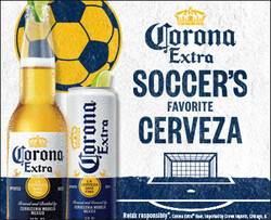 2021 Corona Extra Soccer Flow eComm - Large Rectangle - No CTA - 382 x 310 - Online use only – not for print