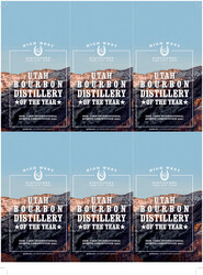 High West Holiday FY22 New York International Spirits Competition Distillery of the Year 6 Up Shelf Talker