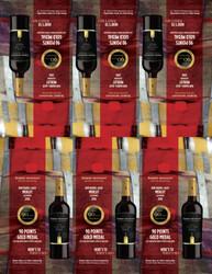 2018 Robert Mondavi Private Selection RBA Merlot Shelf Talker 2021 San Diego Wine & Spirits Challenge 90 Points Gold Medal