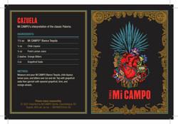 Mi Campo Tequila Blanco Reposado Summer FY22 Tasting Card