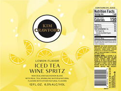 Kim Crawford Lemon Iced Tea Wine Spritz Label