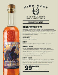 High West Limited Release Rendezvous Rye Tech Sheet