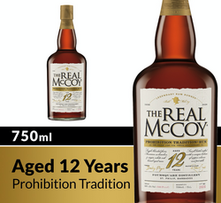 The Real McCoy® 12 Year Prohibition Tradition Limited Edition Aged Rum 750ml 100 Proof COPHI