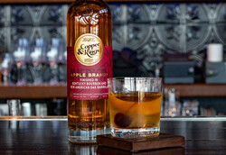 Copper & Kings American Apple Brandy Image - Bar, Bottle, Glass