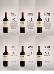 SIMI 2018 Cabernet Sauvignon Holiday FY22 The Tasting Panel 91 Points 6 Up Shelf Talker