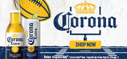 2021 Corona Extra Football Flow eComm - Large Banner - Shop Now CTA - 320 x 150 - Online use only – not for print