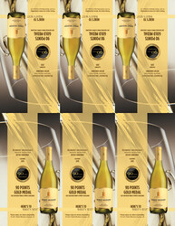 2019 Robert Mondavi Private Selection Buttery Chardonnay Shelf Talker 2021 San Diego Wine & Spirits Challenge 90 Points Gold Medal