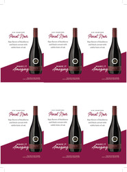 Kim Crawford Pinot Noir Holiday FY22 6 Up Shelf Talker