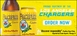 2021 Pacifico LA Chargers- eComm - Large Banner - Order Now CTA - 320 x 150 - Online use only – not for print