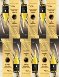 2019 Robert Mondavi Private Selection Chardonnay Shelf Talker 2021 San Diego Wine & Spirits Challenge 90 Points Gold Medal