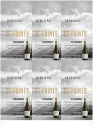 Meiomi 2019 Chardonnay Holiday FY22 Blue Lifestyle 92 Points 6 Up Shelf Talker