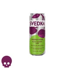 SVEDKA Black Cherry Lime Vodka Soda 355ml Can Halloween No Text Icon COPHI - Temporary Image