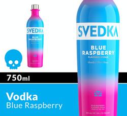 SVEDKA Blue Raspberry 750ml Bottle Halloween Icon COPHI - Temporary Image