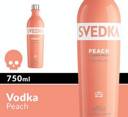 SVEDKA Peach 750ml Bottle Halloween Icon COPHI - Temporary Image