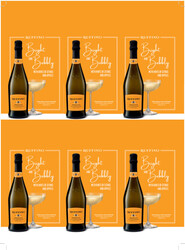 Ruffino Prosecco Holiday FY22 6 Up Shelf Talker