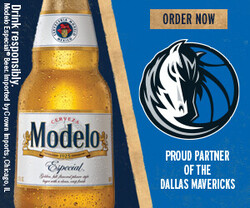 2021 Modelo Dallas Mavericks - eComm - Rectangle - Order Now CTA - 300 x 250 - Online use only – not for print