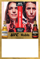 Modelo UFC Fight Night- Dern Vs Rodriguez Bottle Poster Template