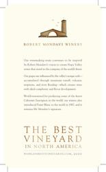 Robert Mondavi Winery Summer FY22 Accolade Waitstaff Card