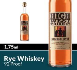 High West Double Rye Whiskey 1.75ml Bottle COPHI