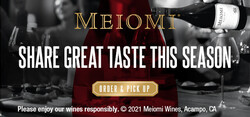 Meiomi Holiday FY22 Large Digital Banner - Order & Pickup CTA – 320x150 - For Online Use Only - Not for print or paid media