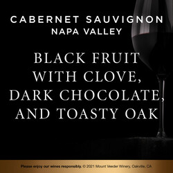 Mount Veeder Winery Napa Valley Cabernet Sauvignon EdPi Image - Tasting Note