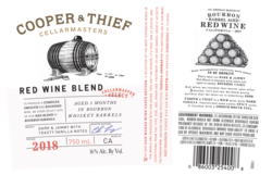 2018 Cooper & Thief Red Blend Label