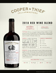 2018 Cooper & Thief Red Blend Tasting Note