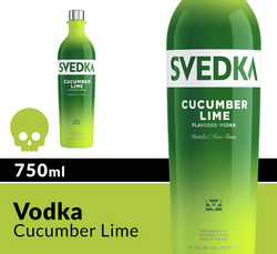 SVEDKA Cucumber Lime 750ml Bottle Halloween Icon COPHI - Temporary Image