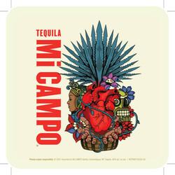 Mi Campo Tequila Summer FY22 Coaster
