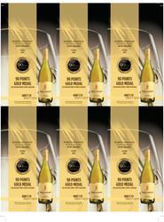 Robert Mondavi Private Selection 2019 Buttery Chardonnay Holiday FY22 2021 San Diego Wine & Spirits Challenge 90 Points Gold 6 Up Shelf Talker