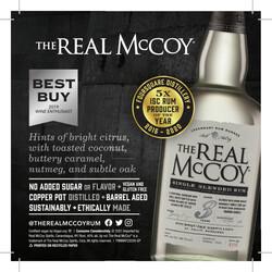 The Real McCoy 3 Year Rum Spring FY22 Shelf Talker