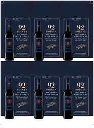 Ruffino 2017 Modus Toscana Holiday FY22 The Tasting Panel 92 Points 6 Up Shelf Talker