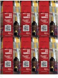 Robert Mondavi Private Selection RBA Red Blend Holiday FY22 6 Up Shelf Talker