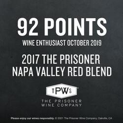The Prisoner Red Blend PDP Image - Awards