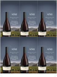SIMI Russian River Valley 2019 Pinot Noir Holiday FY22 6 Up Shelf Talker