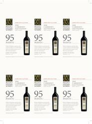 Mount Veeder Winery 2018 Cabernet Sauvignon Holiday FY22 James Suckling 95 Points 6 Up Shelf Talker