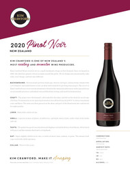 Kim Crawford 2020 Pinot Noir NSRP Tasting Note - Canada, United States